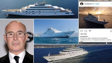 Photo of American US billionaire 'quarantined' on ultra luxury yacht