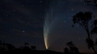 Photo of Comet ATLAS is approaching the Sun