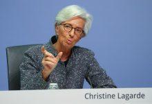 ECB President Christine Lagarde at a press conference in Frankfurt am Main