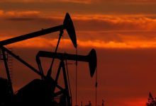Oil prices fell below per barrel