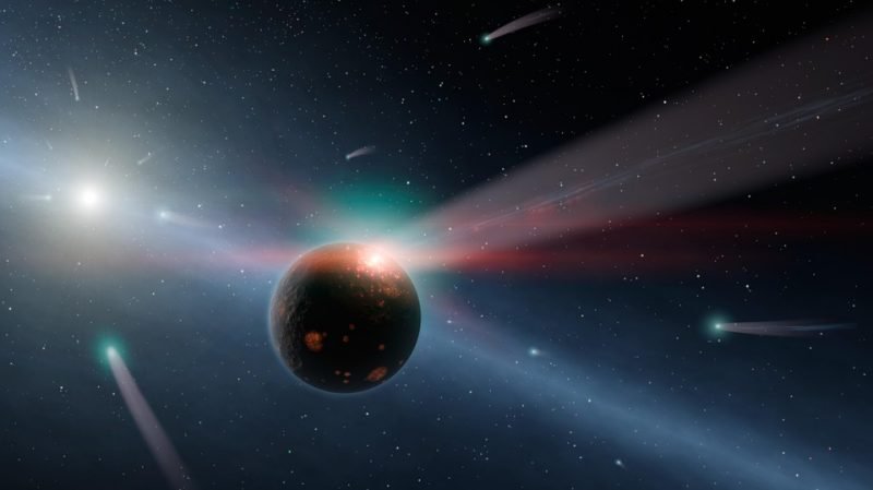 Scientists discovered traces of the Earth collision with a comet