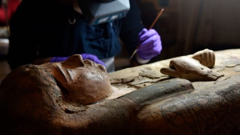 Archaeologists have made an incredible discovery by opening a sarcophagus years old