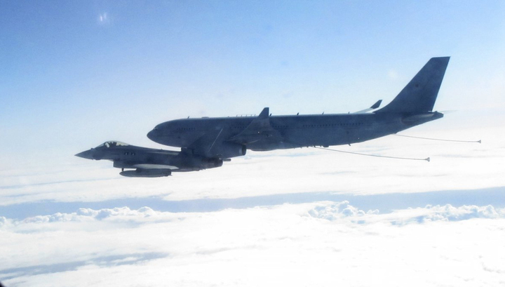British fighter escorted Russian military aircraft