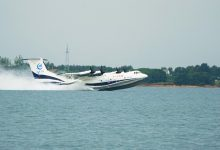 China experienced the worlds largest seaplane in the sea