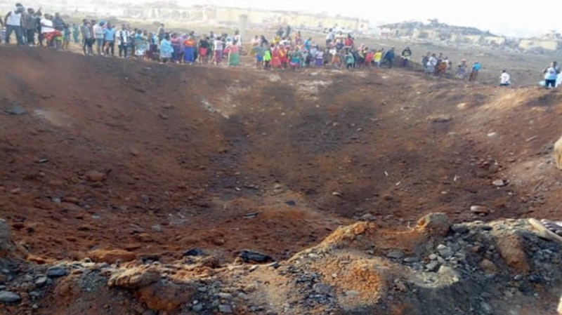 In Nigeria a meteorite formed a giant funnel