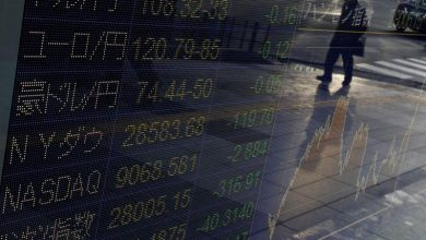 Japanese shares down ahead of company reporting