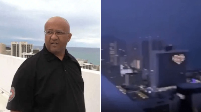 The man joked that lightning could strike him and after a few seconds it happened