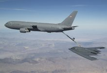 US Air Force KC refuels B