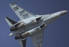US Navy Russian Su dangerously close to American P A Poseidon