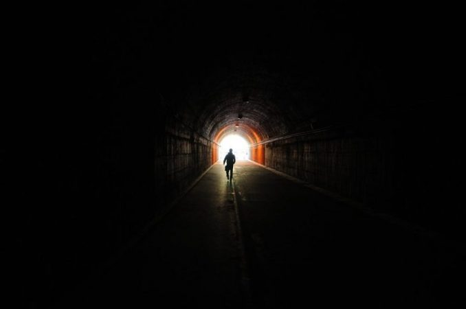Why do dying people see the light at the end of the tunnel