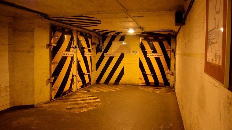 begins to hide in bunkers