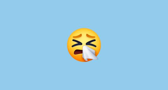 sneezing face f