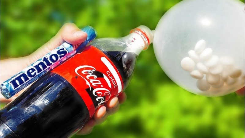 trick with cola and mentos
