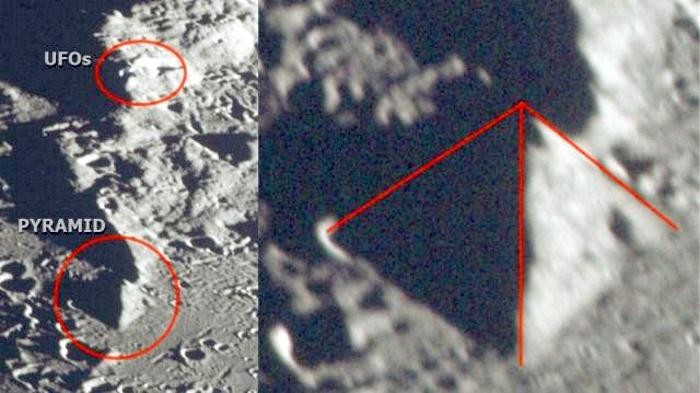 A huge pyramid was discovered on the surface of the moon