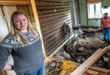 A married couple discovered a Viking grave under their bedroom