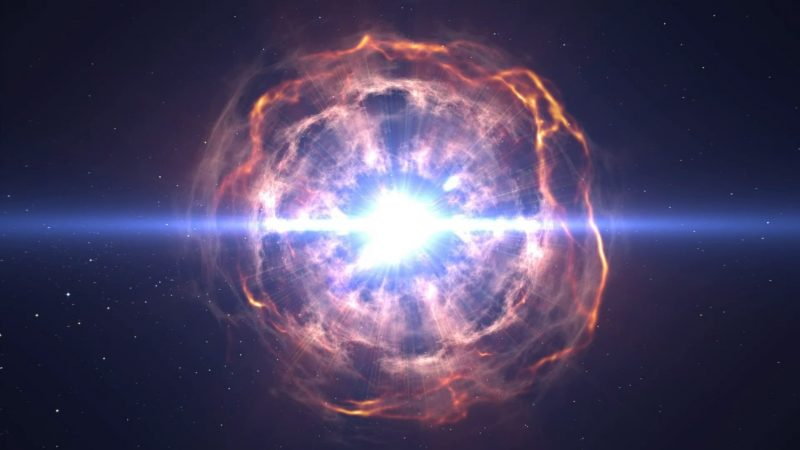 A powerful explosion occurred million light years from Earth
