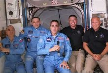 Astronauts Crew Dragon go to the international space station