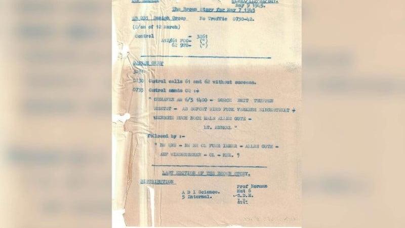 British intelligence reveals Nazis latest intercepted cryptograms