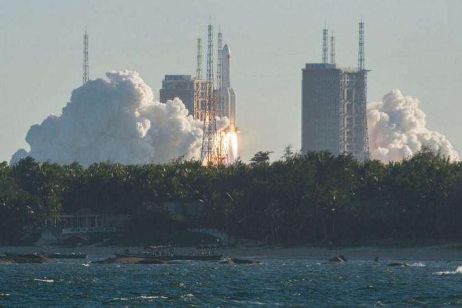 China faced a problem when landing a cargo capsule