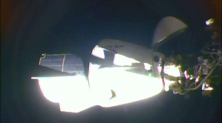 Crew Dragon docked with the ISS