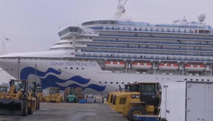 Diamond Princess liner leaves Japan for Malaysia