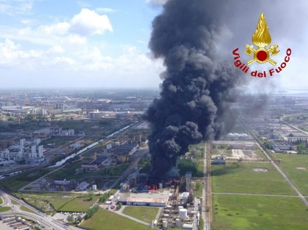 Explosion in a chemical factory in Venice