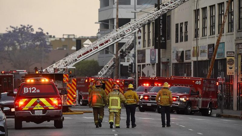Explosion thundered in downtown Los Angeles