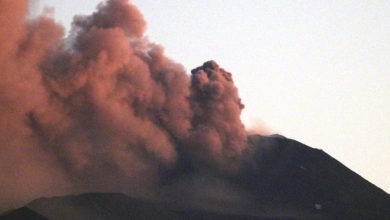 Explosive activity on the volcano Etna Italy