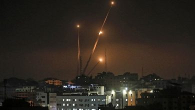 Photo of Gaza rocket fired into Israel