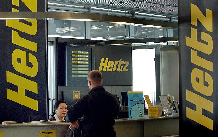 Hertz largest car rental service announced bankruptcy