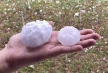 Huge hail of more than cm in diameter fell in Argentina