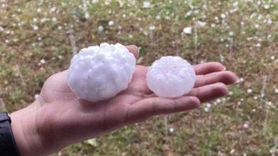 Huge hail of more than cm in diameter fell in Argentina