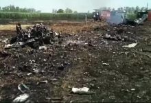 Indian Air Force MiG crashes near border with Pakistan
