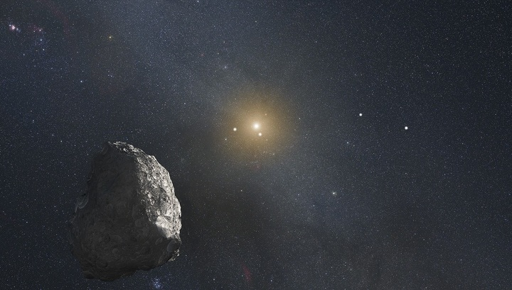 Is a new moon seen on the outskirts of the solar system