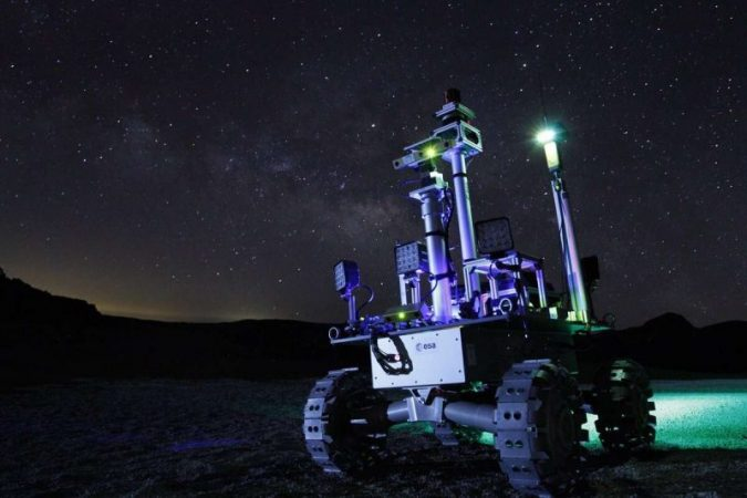 Laser rover will explore the dark craters on the moon