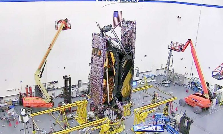 NASA James Webb Space Telescope converted to flight configuration