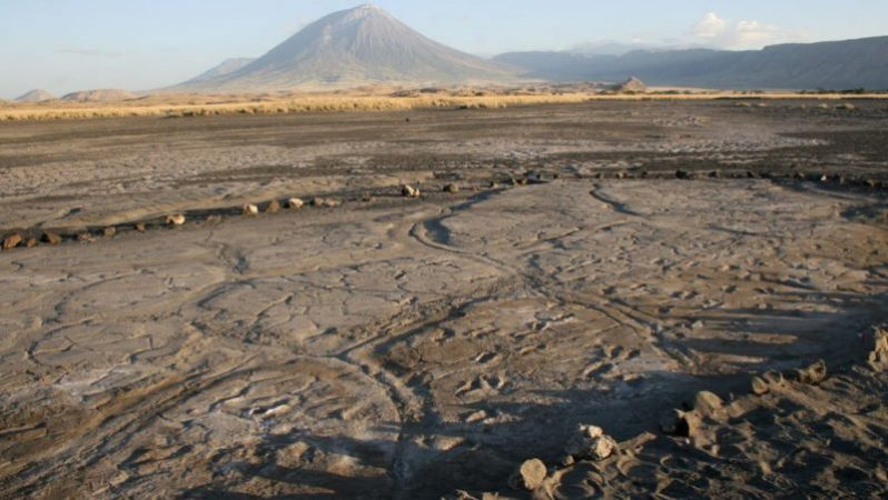 Near the volcano found the largest collection of ancient human footprints in Africa
