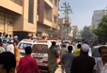 Pakistani plane crashes in Karachi district
