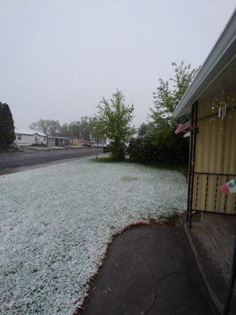 Record snowfall hit Idaho Falls US in late May