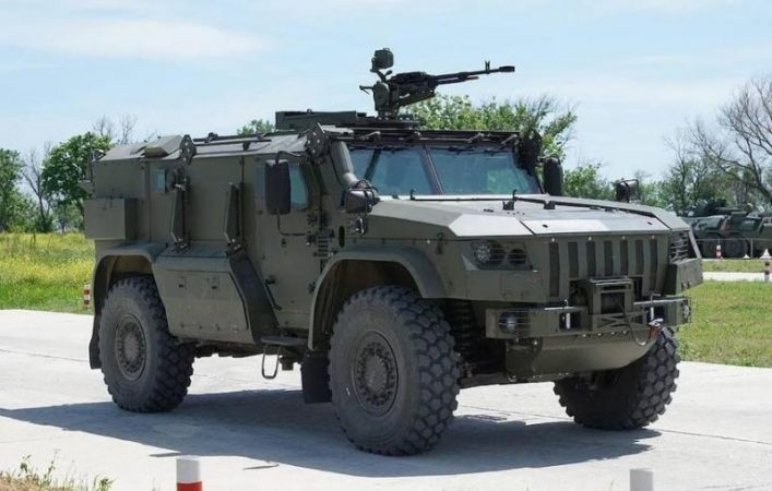 Russian flying armored car prepared for testing