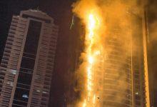 Skyscraper lights up in the UAE