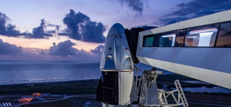 SpaceX sends people to space for the first time