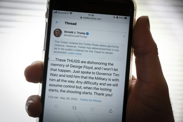 Twitter hides a tweet from Trump who wants to trim the wings of the network