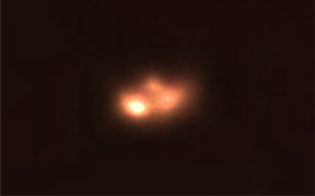 UFO staged a real show in the sky over the city of Lima Peru