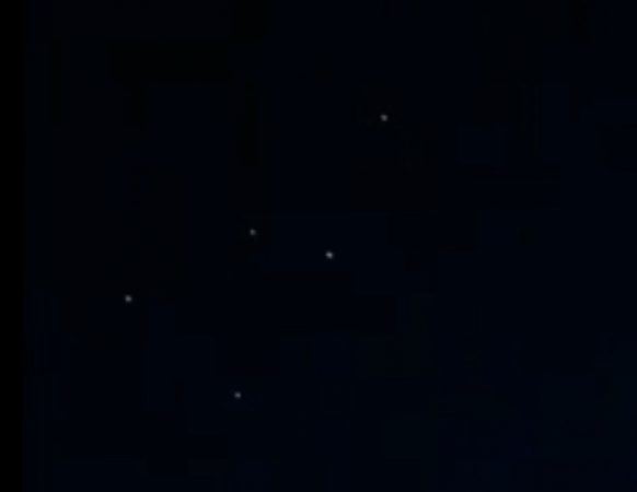 UFOs were observed in the sky over Cheshire