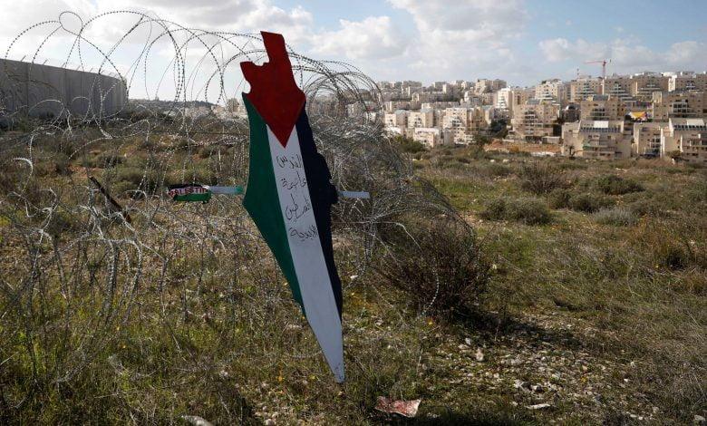 palestine flag westbank reuters