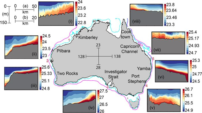 A mysterious network of submarine rivers appears around the Australian coast