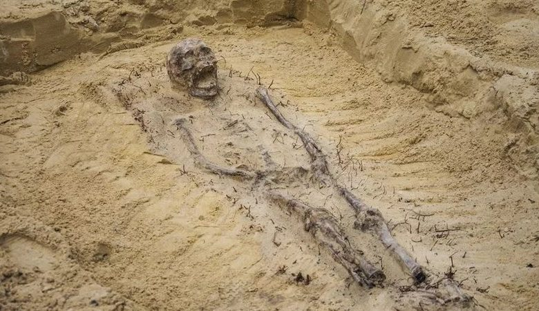 Archaeologists have discovered the remains of more than 100 children with coins in their mouths