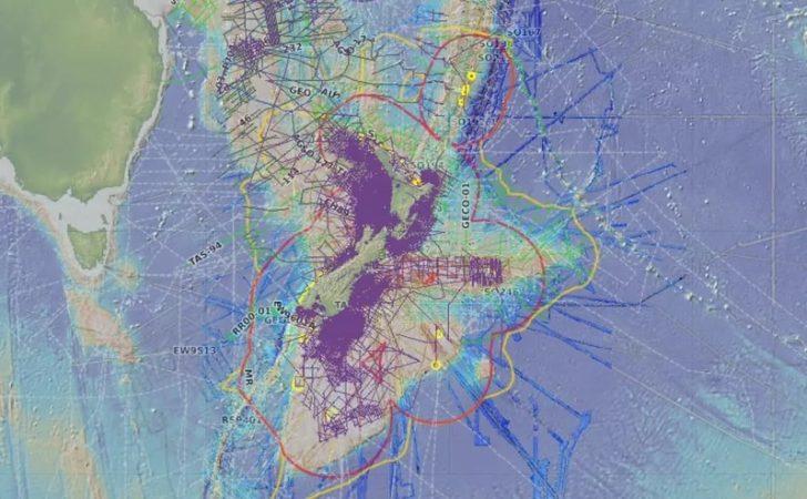 Bathymetric map of Zealand GNS Bathymetric map of Zealand