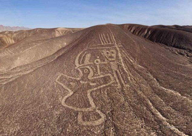 Geoglyphs secret messages